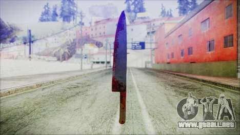 Helloween Butcher Knife para GTA San Andreas segunda pantalla