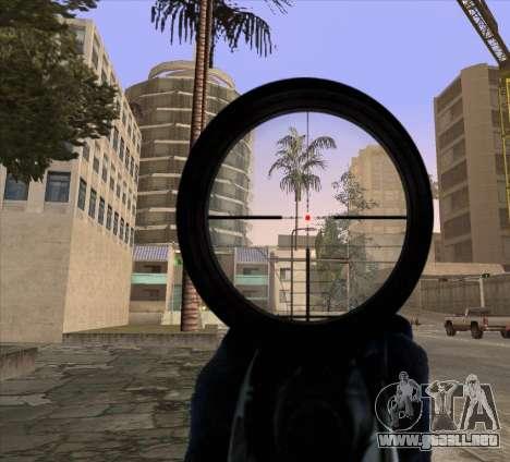 Sniper Scope v2 para GTA San Andreas segunda pantalla