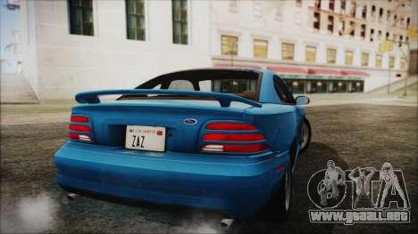 Ford Mustang GT 1993 v1.1 para GTA San Andreas left