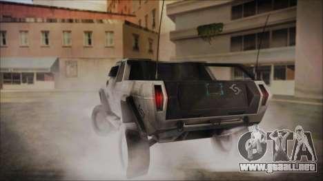 Hummer H2 C.E.L.L. Crysis 2 para GTA San Andreas left