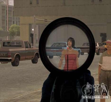 Sniper Scope v2 para GTA San Andreas sucesivamente de pantalla