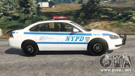 GTA 5 Chevrolet Impala NYPD vista lateral izquierda