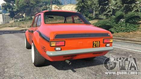 GTA 5 Ford Escort MK1 v1.1 [HRE] vista lateral izquierda trasera