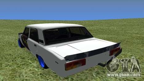VAZ 2105 Bq Final para GTA San Andreas vista posterior izquierda