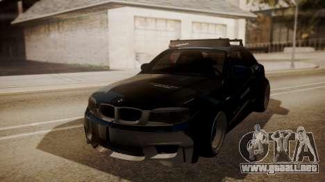 BMW 1M E82 with Sunroof para la vista superior GTA San Andreas