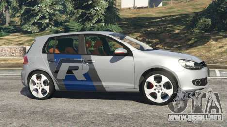 GTA 5 Volkswagen Golf Mk6 v2.0 [WRC Polo] vista lateral izquierda