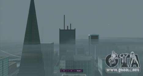 SampGUI Violet para GTA San Andreas tercera pantalla