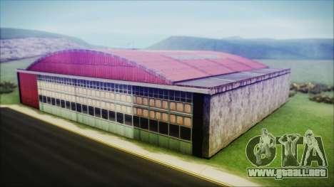 HD Desert Hangar Mipmapped para GTA San Andreas tercera pantalla