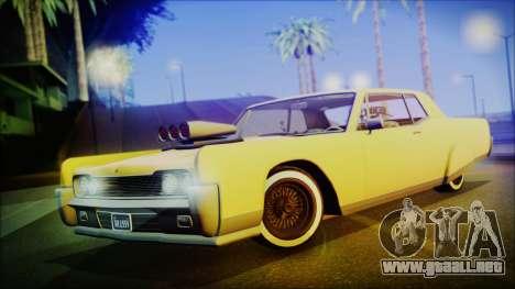 GTA 5 Vapid Chino Hydraulic Version IVF para GTA San Andreas