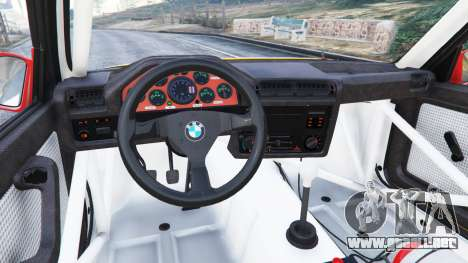 GTA 5 BMW M3 (E30) 1991 [10 strikes] v1.2 vista lateral derecha
