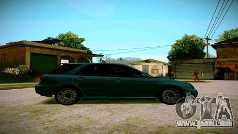 Subaru Impreza WRX STI Wagon para GTA San Andreas vista posterior izquierda
