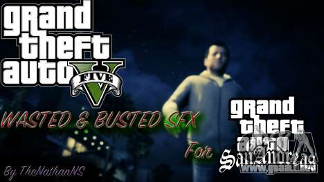 Cleo GTA 5 Wasted and Busted Sound para GTA San Andreas