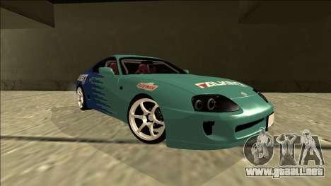 Toyota Supra Falken Drift para la visión correcta GTA San Andreas