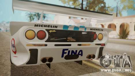 McLaren F1 GTR 1998 Team BMW para GTA San Andreas interior