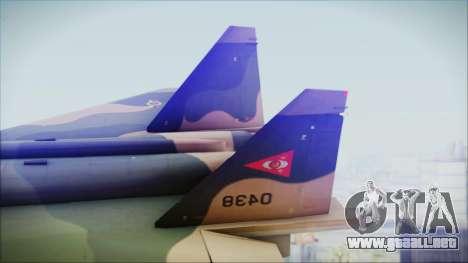 Mikoyan MIG 1.44 Flatpack Venezuelan Air Force para GTA San Andreas vista posterior izquierda
