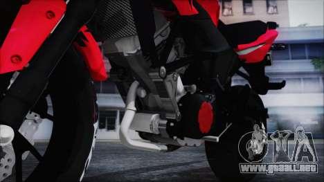 Honda CB150R Red para GTA San Andreas vista hacia atrás