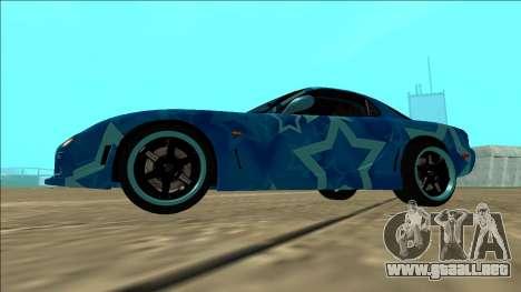 Mazda RX-7 Drift Blue Star para GTA San Andreas vista hacia atrás