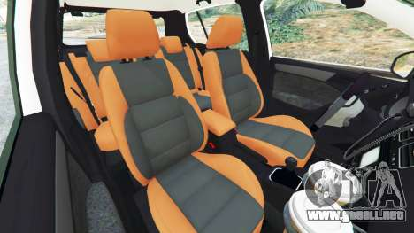GTA 5 Volkswagen Golf Mk6 Dutch Police vista lateral derecha