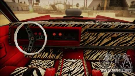 GTA 5 Vapid Chino Custom IVF para GTA San Andreas vista posterior izquierda