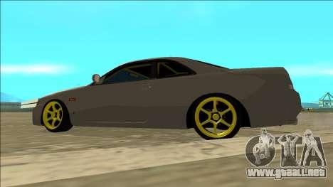 Nissan Skyline R33 Drift para visión interna GTA San Andreas