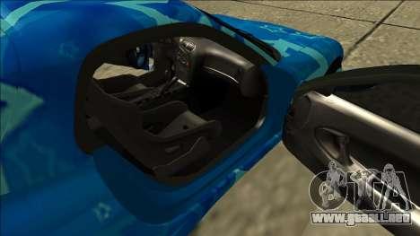 Mazda RX-7 Drift Blue Star para visión interna GTA San Andreas
