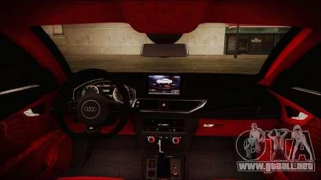 Audi RS7 Sportback 2015 para GTA San Andreas interior
