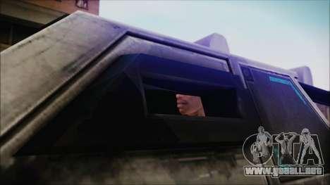 Hummer H2 C.E.L.L. Crysis 2 para GTA San Andreas vista posterior izquierda