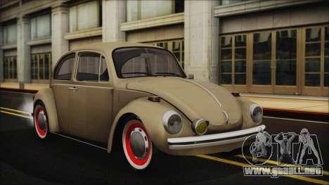 Volkswagen Beetle 1973 para visión interna GTA San Andreas