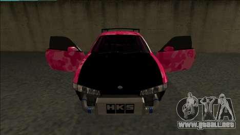 Nissan Silvia S14 Drift para vista inferior GTA San Andreas