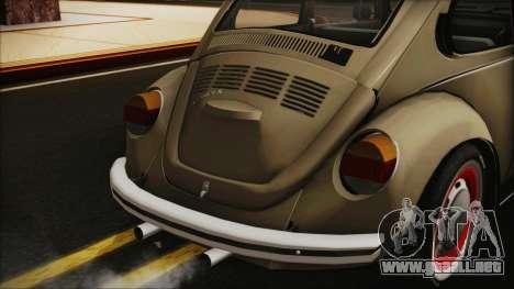 Volkswagen Beetle 1973 para GTA San Andreas vista hacia atrás