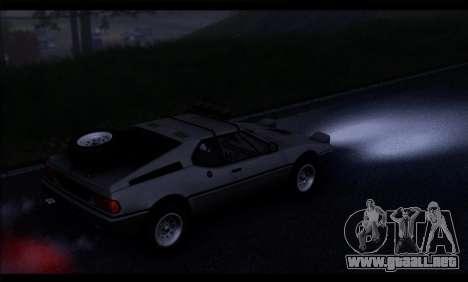 BMW M1 E26 Rusty Rebel para la visión correcta GTA San Andreas