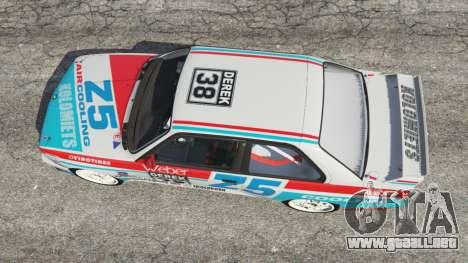 GTA 5 BMW M3 (E30) 1991 [Z5] v1.2 vista trasera