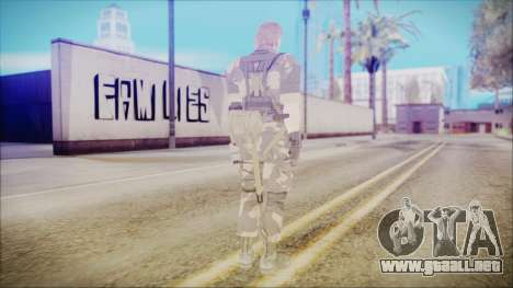 MGSV Phantom Pain Snake Normal Splitter para GTA San Andreas tercera pantalla