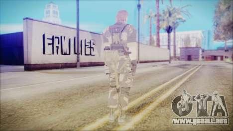 MGSV Phantom Pain Snake Normal Splitter para GTA San Andreas tercera pantalla