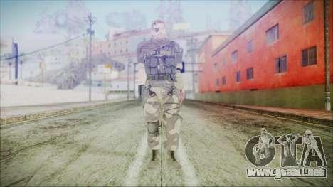 MGSV Phantom Pain Snake Scarf Splitter para GTA San Andreas segunda pantalla