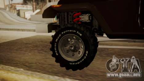 New Mesa Wild para GTA San Andreas vista posterior izquierda