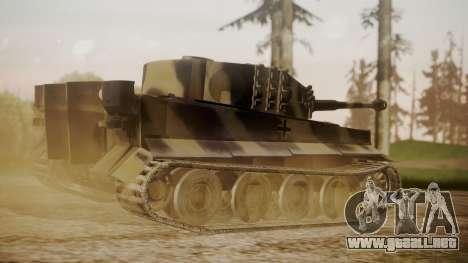 Panzerkampfwagen VI Tiger Ausf. H1 No Interior para GTA San Andreas left