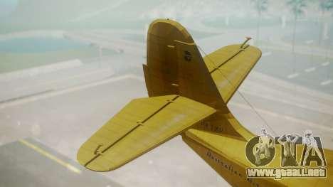 Grumman G-21 Goose VHLXD para GTA San Andreas vista posterior izquierda