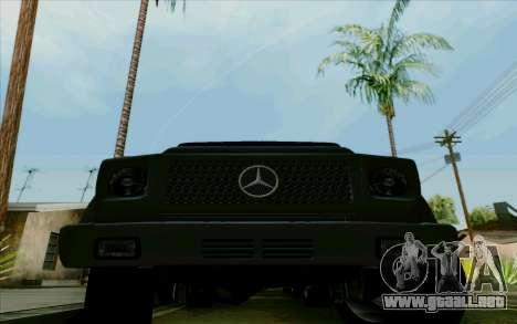 Mercedes-Benz G500 1999 para visión interna GTA San Andreas