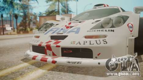 McLaren F1 GTR 1998 Team BMW para la vista superior GTA San Andreas