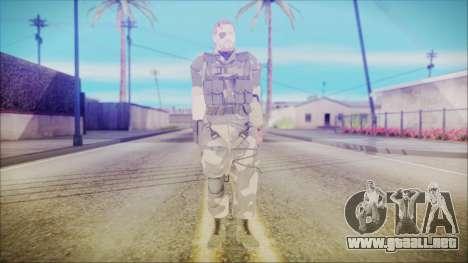 MGSV Phantom Pain Snake Normal Splitter para GTA San Andreas segunda pantalla