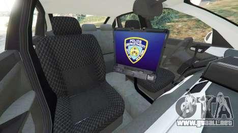 GTA 5 Chevrolet Impala NYPD vista lateral derecha