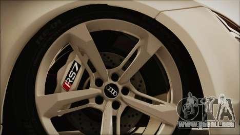 Audi RS7 Sportback 2015 para GTA San Andreas vista hacia atrás