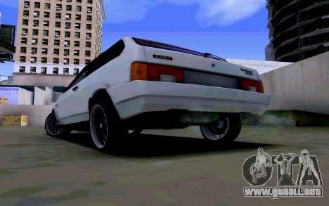 VAZ 2108 V2 para GTA San Andreas vista posterior izquierda