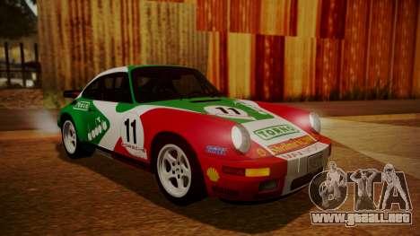 RUF CTR Yellowbird (911) 1987 HQLM para visión interna GTA San Andreas