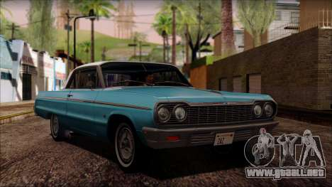 Chevrolet Impala SS 1964 Final para GTA San Andreas left