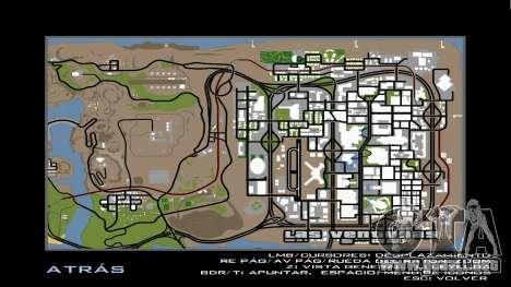 HD Radar Map para GTA San Andreas segunda pantalla