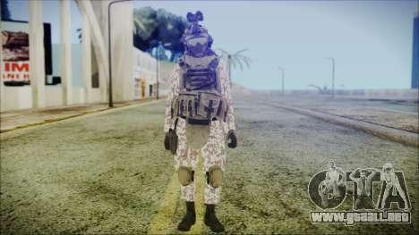 Bundeswehr Desert v3 para GTA San Andreas segunda pantalla