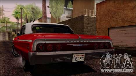 Chevrolet Impala SS 1964 Final para visión interna GTA San Andreas