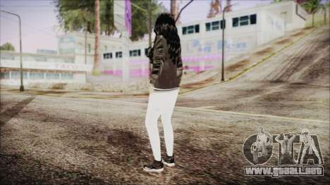 Home Girl White Pants para GTA San Andreas tercera pantalla